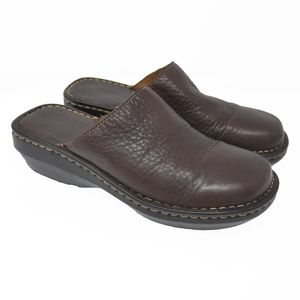 Born Sz 9 Brown Leather Slip On Flats